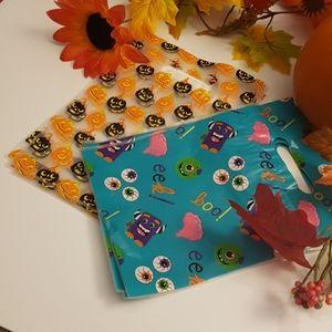 CLEARANCE 8 Boo Eek Pumpkin Halloween Favor Bags